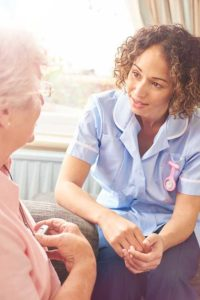 Home caregiver who attended dementia care training for caregivers at Open Door